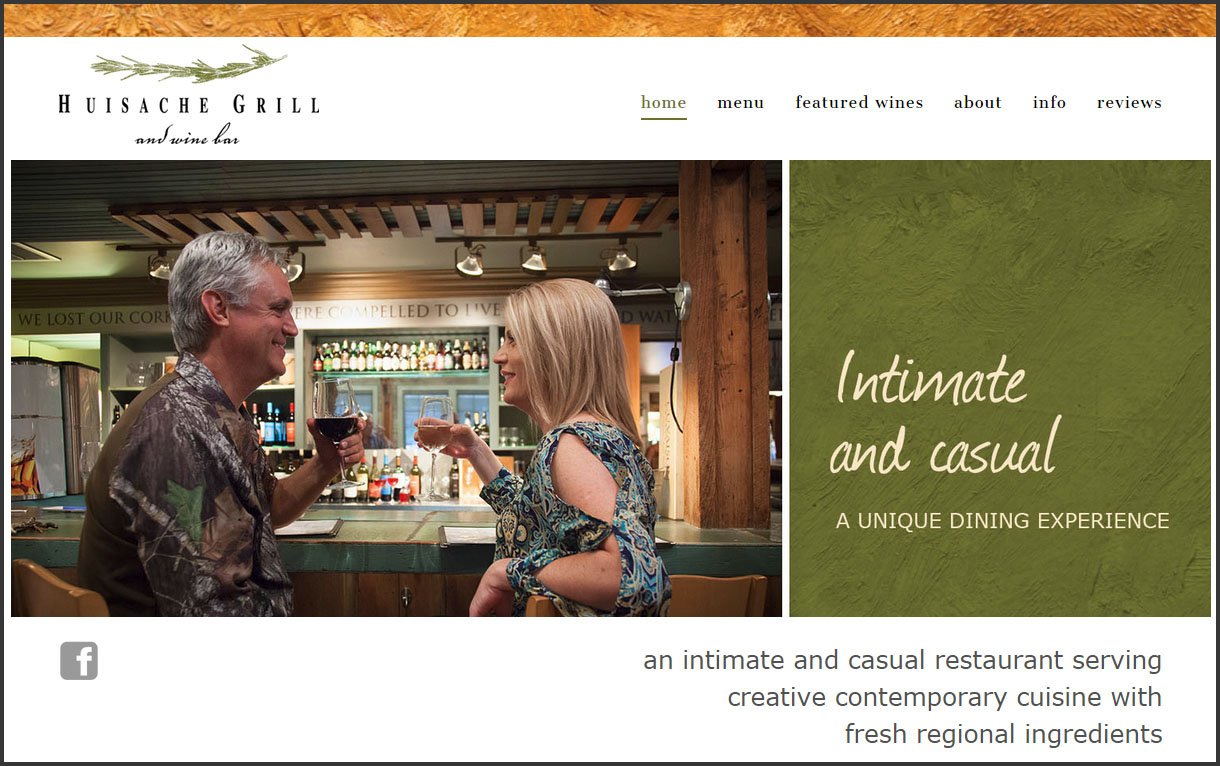 New website launched for Huisache Grill of New Braunfels